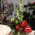 Front facing Christmas arrangement, £30